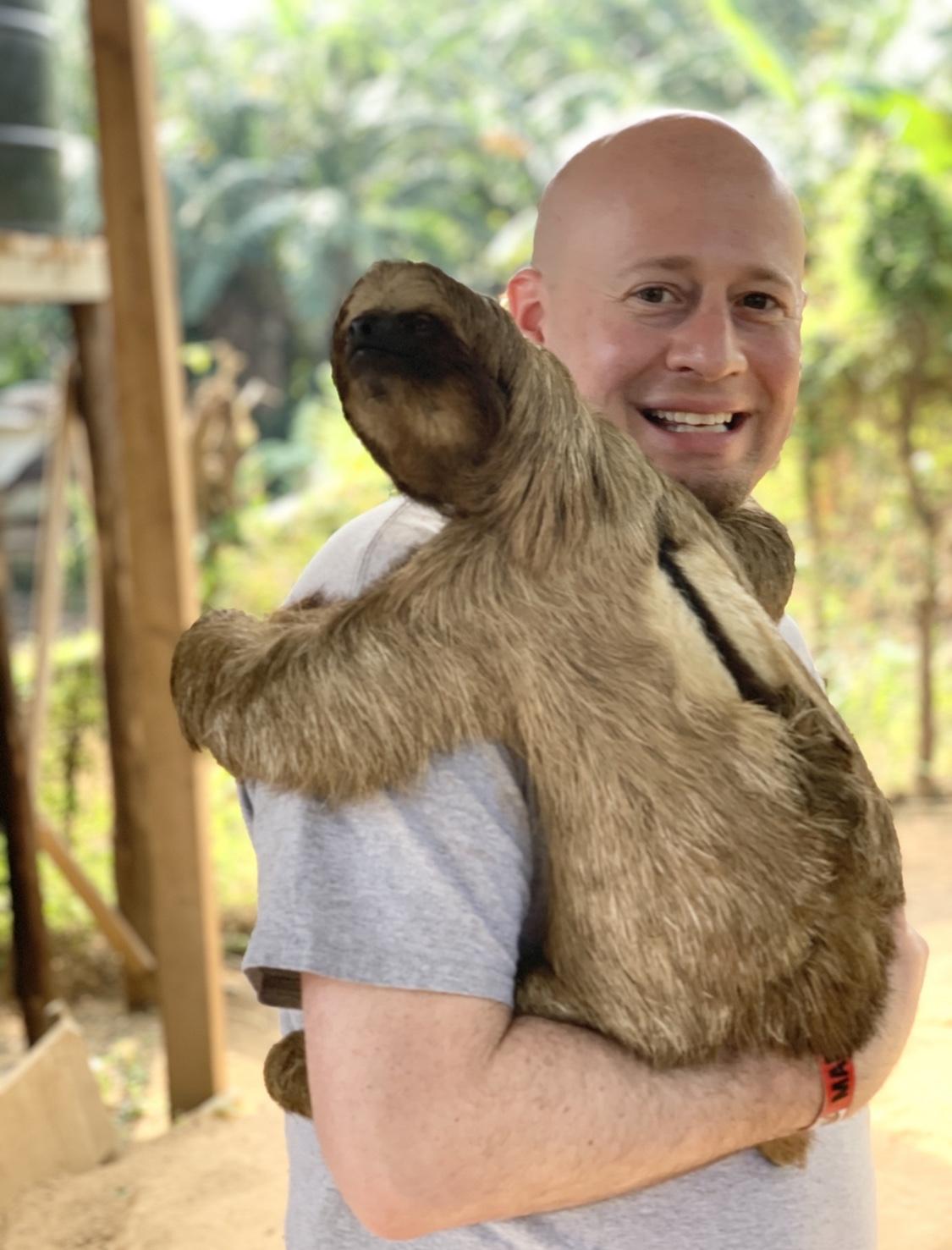 struggle to unplug sloth